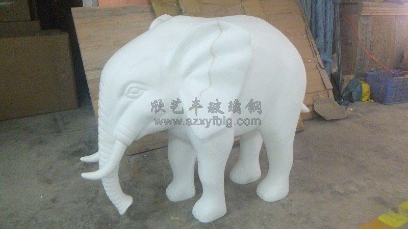 玻璃钢大象泡沫雕塑